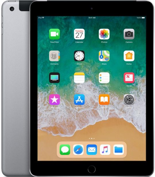 Apple iPad 6de gen (2018) 128GB  WiFi  + 4G Spacegrijs